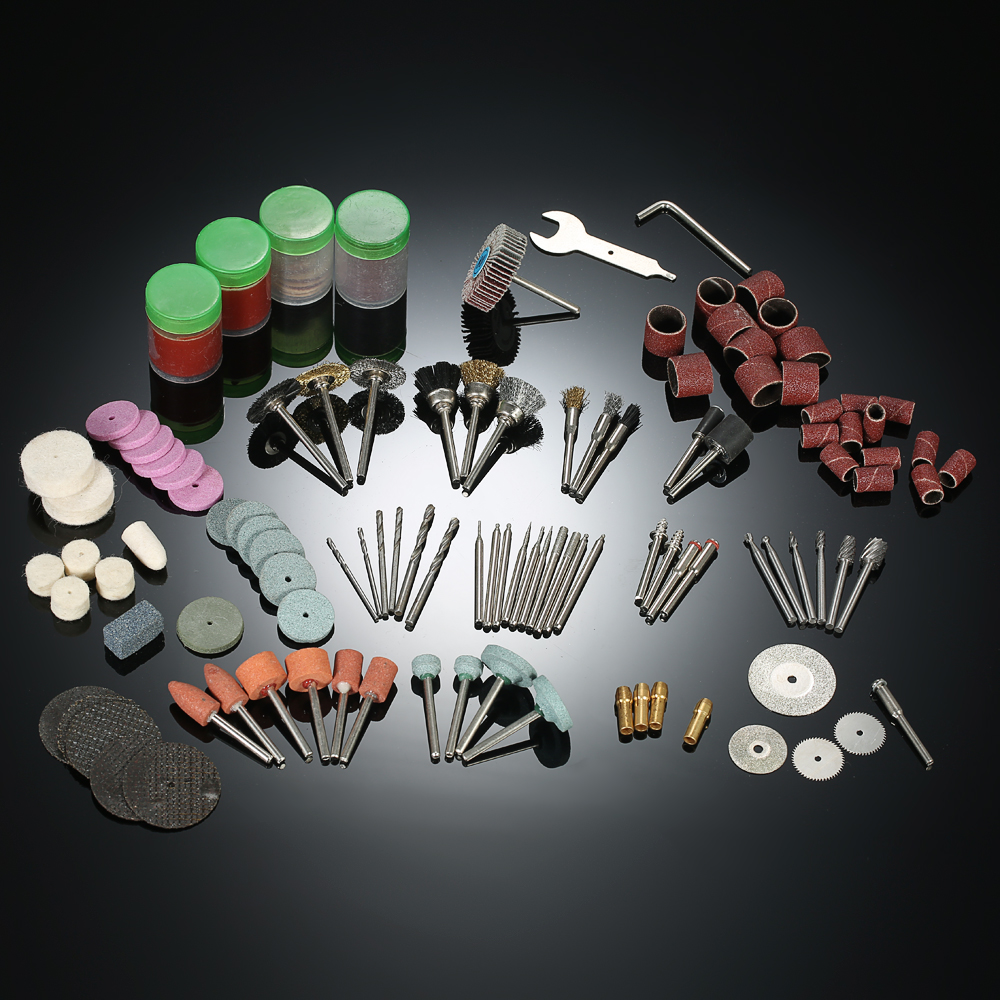 166PCS 1/8 rotary polishing tool accessories for Electric Grinder dremel drill Sanding Grinding engraving Cutting milling Tool 110 230v mini grinder electric dremel drill engraver regulating speed grinding machine for milling polishing dremel accessories