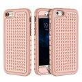 Para iphone 6 6 s 7 además de oro rosa armor case duro cubierta para apple iphone 6 7 plus 6 s pesado fuerte protección