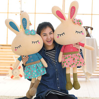 Wholesale Rabbit Cloth Doll Girl Pillow Soft Cushion 50 100cm Large Size Toys Cute Rabbit Plush Toys Stuffed Plush Animals Kids