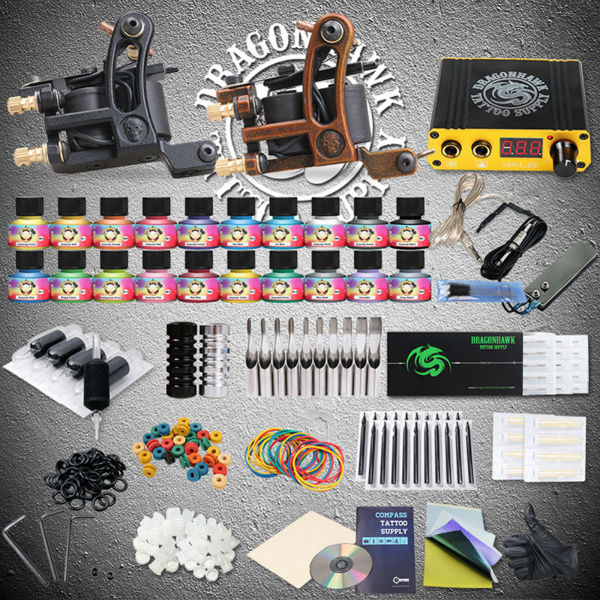 Professional Tattoo Kits Liner And Shader Machines Immortal Ink Needles Sets Power Supply professional tattoo kits liner and shader machines immortal ink needles sets power supply