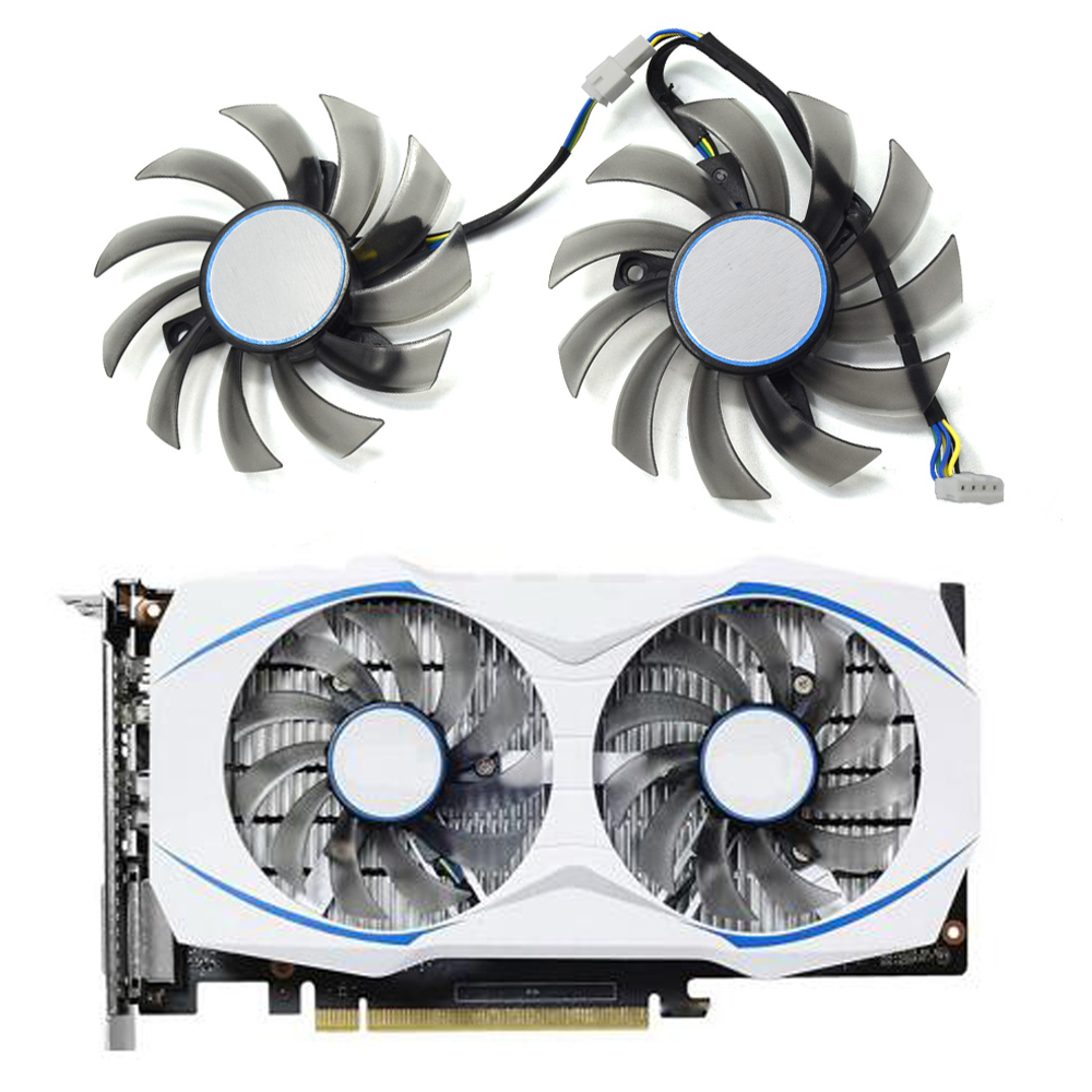 New 75MM FD7010H12S 4 Pin Cooler Fan For ASUS Dual GTX 1050 Ti 1050Ti Dual RX 460 RX460 GTX 950 Graphic Video Card Cooling Fans image