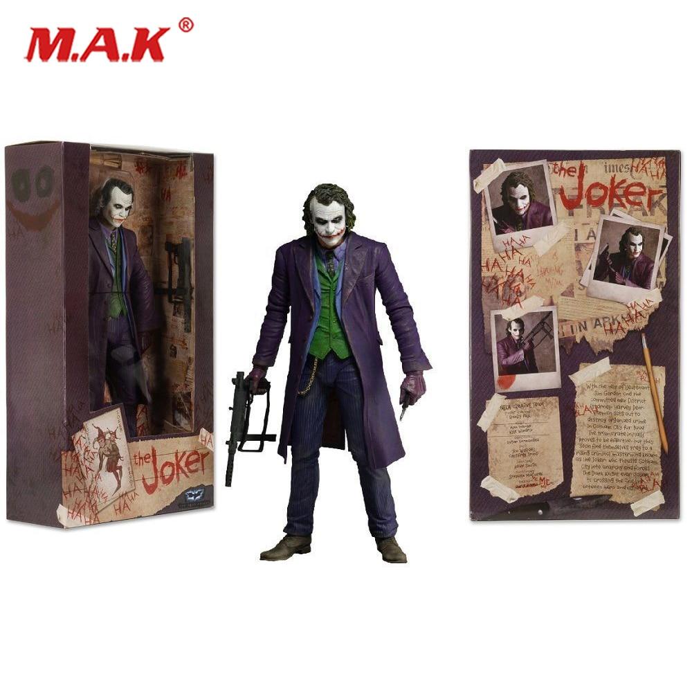 18cm THE JOKER HEATH LEDGER DC COMICS Action Figure Model 7 Male Mini Figure брелок dc comics the joker card