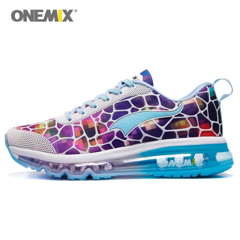 Onemix 2018 Nouvelles Femmes chaussures de Course Chaussures Air Mesh  Respirant Sport Sneaker Athletic Formateurs Pour Femme de Fitness Coureur  Dame Coloré 385d8c0f9be7