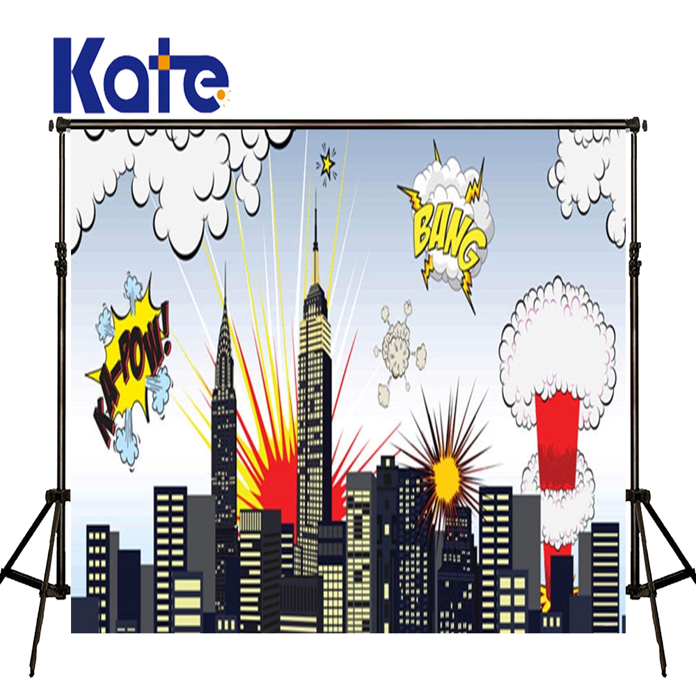 KATE Photography Backdrop 5x7ft Cartoon Background City Photo Backdrops Children Photography Backdrop for Newborn Photo Shoot kate dry land photography backdrops land photography background retro children custom backdrop props for newborn photo shoot