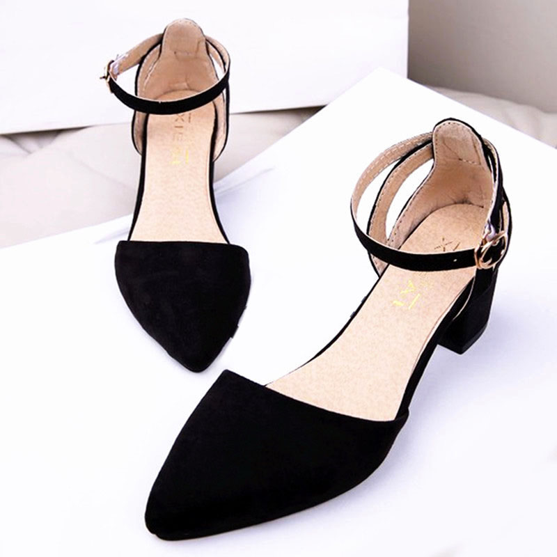 где купить women sandals high heels Summer Women Shoes 2016 Fashion Ankle-Wrap Ladies Shoes Zapatos Mujer Black Green Size 35-40 по лучшей цене
