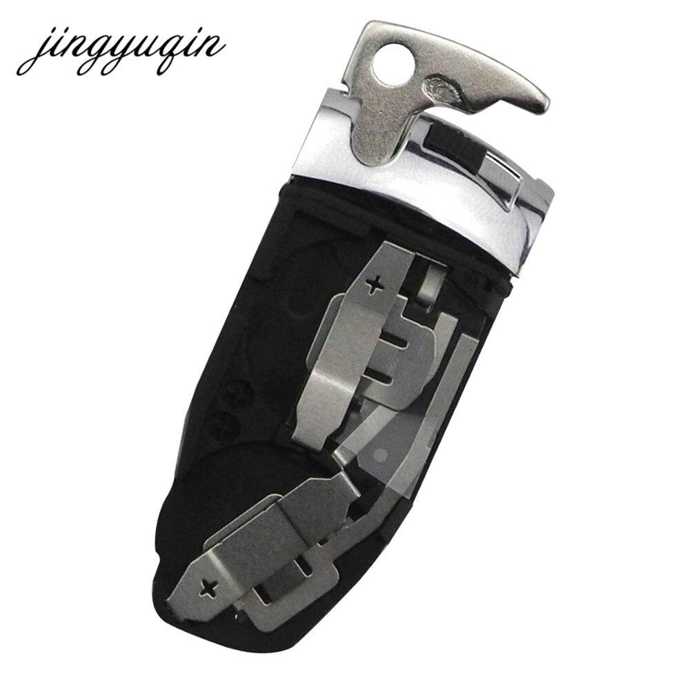 jingyuqin Car Key Battery Holder + Key Blade For Mercedes for Benz E C R CL GL SL CLK SLK Chrome Smart Keyless Battery Clamp