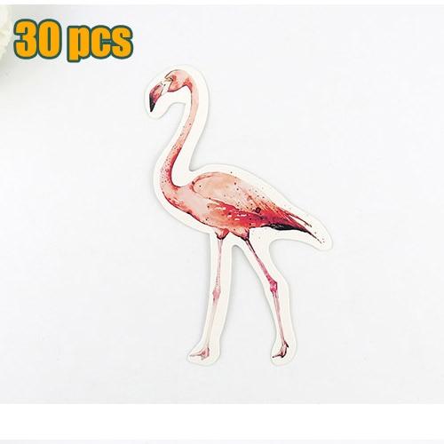 Flamingo Christmas Cards.30 Pcs Lot Novelty Flamingo Many Birds Shape Postcard