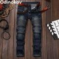 Odinokov Brand 2017  Ripped Jeans For Men Denim Overalls Men Biker Jeans Pants Mens Skinny Jeans Slim Fit Fashion Jeans For Men