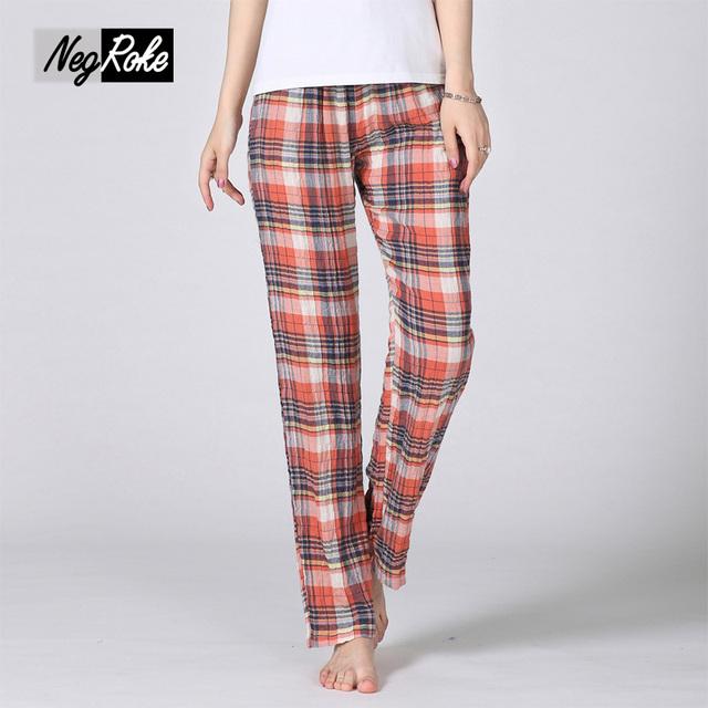 Rebajas de verano caliente 100% de algodón para mujer pantalones pijamas sueltos pantalones de las mujeres más el tamaño ATRACTIVO del sueño ocasional pantalones caseros pantalones de pijama mulher