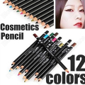 2016 New 12 x Pro Cosmetic Makeup Eyeliner EYE/LIP Liner Pencil 7GQ9 8L9L