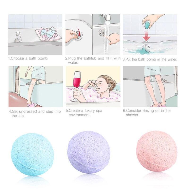 8 Pcs/ Set Organic Fizzy Bath Bombs Set Handmade SPA Stress Relief Exfoliating Gift SSwell exfoliating bath tool