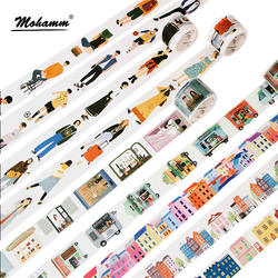 Креативные современные люди город Повседневная жизнь декоративная васи лента Diy Скрапбукинг маскирующая лента школьные офисные поставки