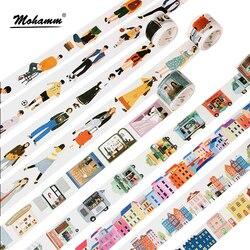 Kreative Moderne Menschen Stadt Täglichen Leben Dekorative Washi Band Diy Scrapbooking Masking Tape Schule Büro Liefern