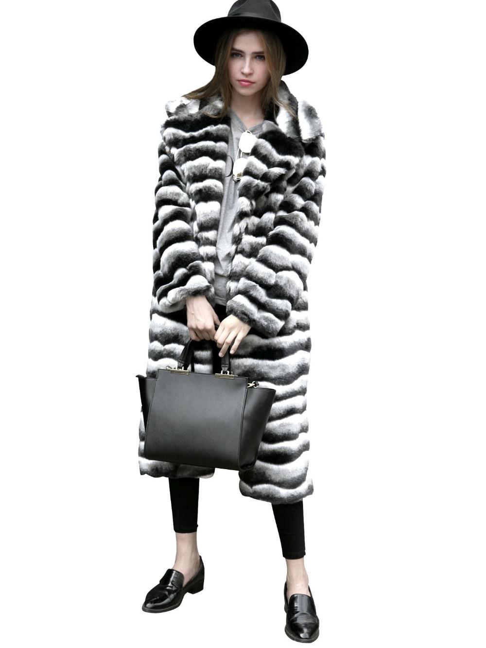 V-cou chaud Arc-En-faux manteau de fourrure femmes Faux fourrure long hiver manteau femelle automne coloré parti casual fourrure pardessus