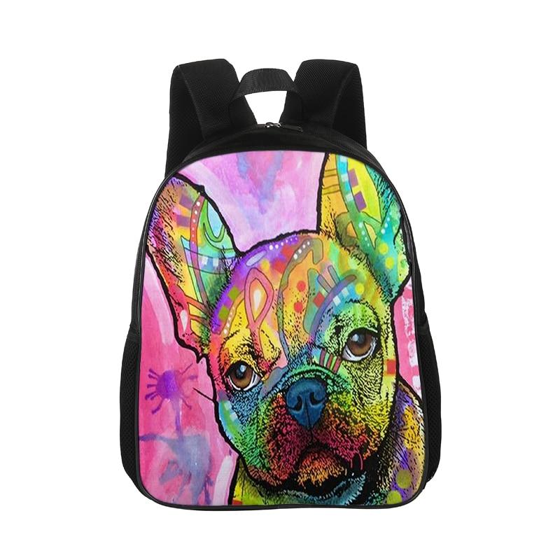 Cute-French-Bulldog-Print Interest Print Custom Unique Casual Backpack School Bag Travel Daypack Gift