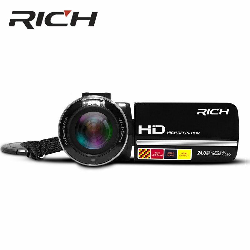 DHL MP100 цифровой Камера 1080 P 15fps Full HD 24MP D 3,0 дюймов Вращающийся ЖК дисплей Экран видеокамера с беспроводным пультом дистанционного управления,