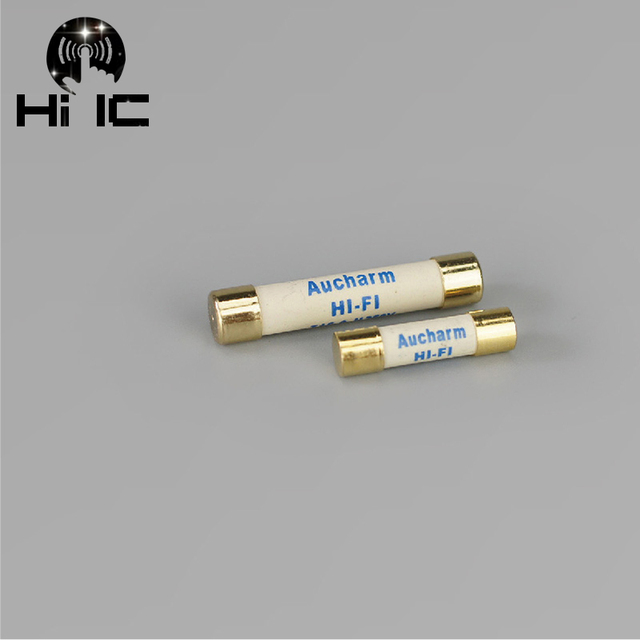 2pcs HIFI Silver gold Fuse CD Audio Amplifier Tube Amp Fuse / 0.5A 1A 2A 3A 4A 5A  6A 8A 10A 15A Slow Blow Fuse AudioTube