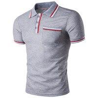 MarKyi 2017 New Brand Summer Fashion Casual Men S Polo Shirts Solid Turn Down Collar Short
