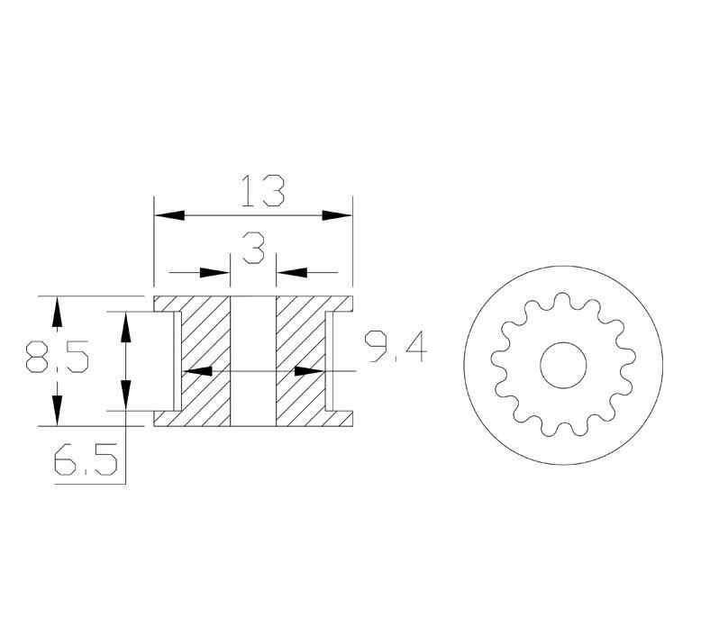 5 قطعة GT2 المهمل توقيت بكرة 16/20 الأسنان عجلة تتحمل 3/5 مللي متر الألومنيوم والعتاد الأسنان عرض 6/10 مللي متر ثلاثية الأبعاد الطابعات أجزاء ل Reprap جزء