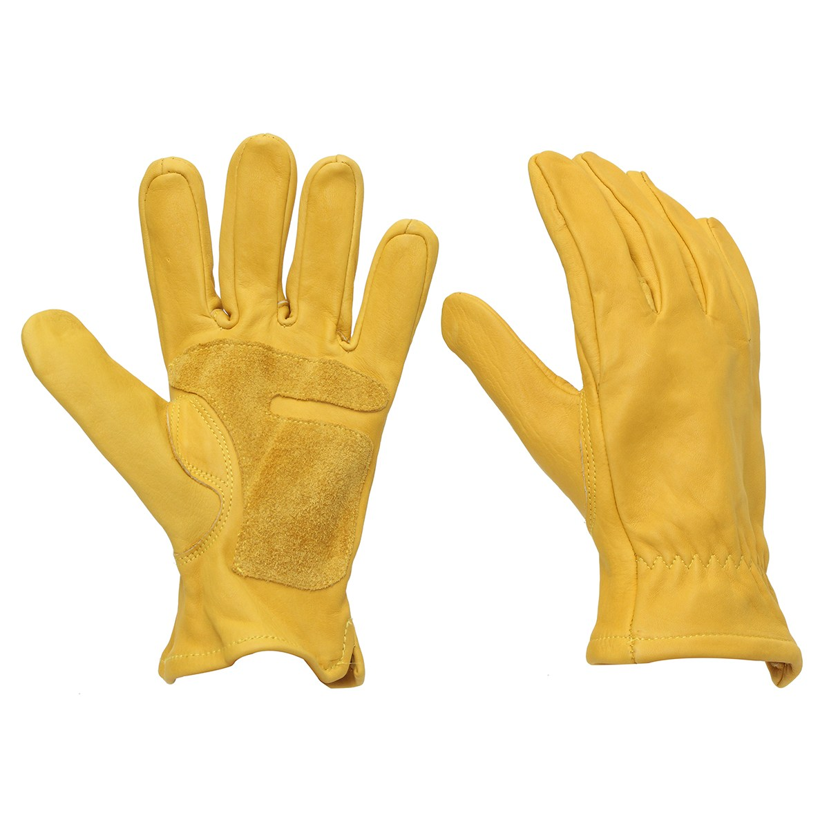 Safurance 1 Pair Leather Yellow Gloves M L XL XXL Workplace Safety  Working Welding Warm Gloves Protection new safurance pro tree carving fall protection rock climbing equip gear rappelling harness workplace safety