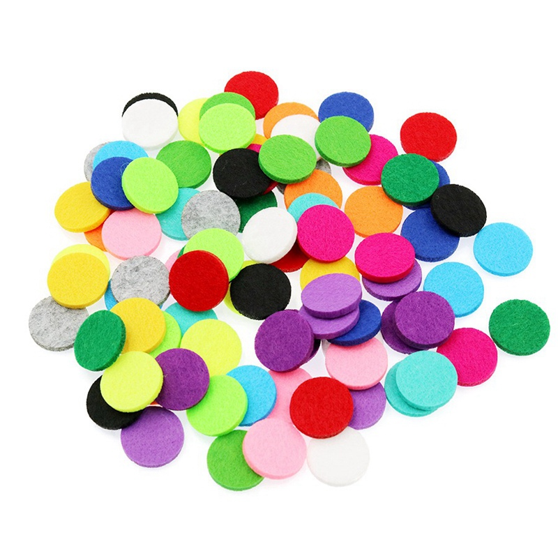 22mm Colorful Trendy Aromatherapy Round Felt Pads Fit for 30mm Essential Oil Diffuser Floating Locket DIY Accessories 30pcs
