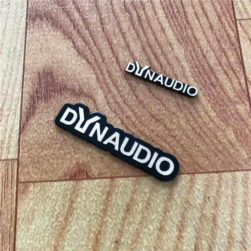 20X DYNAUDIO スピーカーアルミ 3D ステッカートランペットホーンサウンド文字のステッカー車のスタイリング Cc ニュービートル