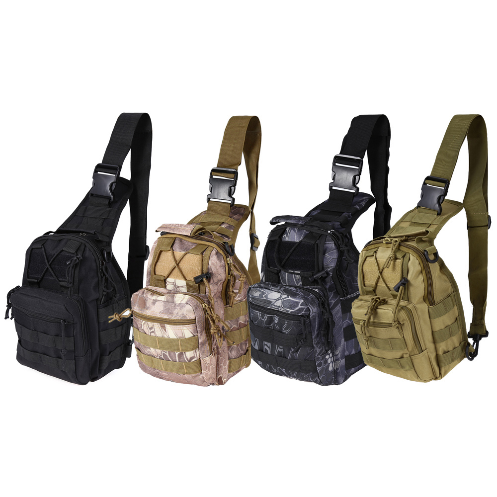 New 9 Color 600D Shoulder Military Tactical Backpack Unisex Camping Hiking Hunting Bag Camouflage Bag Crossbody Bag