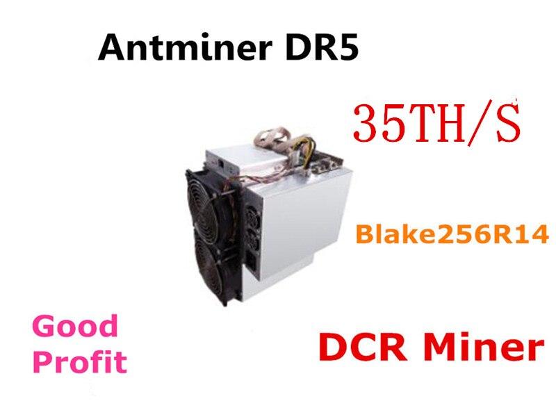 Utilizzato BITMAIN DCR Asic Blake256R14 Minatore Antminer DR5 35TH/S Con PSU Meglio di DR3 Z9 Mini WhatsMiner D1 innosilicon D9 A9