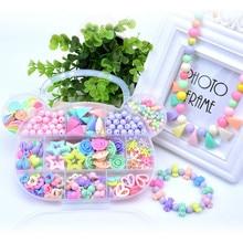 280 ~ 400ks / sada Vlak Oční cvičení Plastová akrylová korálková sada DIY hračky Šperky Tvorba dětských perliček Creative Birthday Gifts for Girl