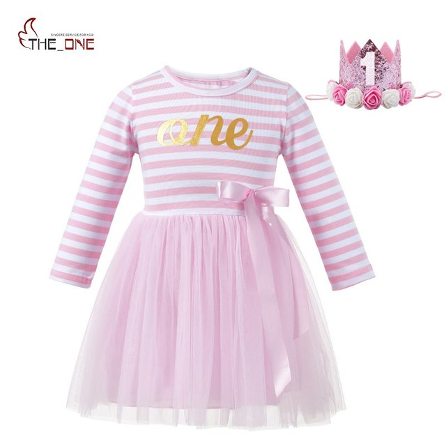 6c61dd78c MUABABY Girls Birthday Dresses 3 Colors Baby Girl 1 Years Old Soft ...