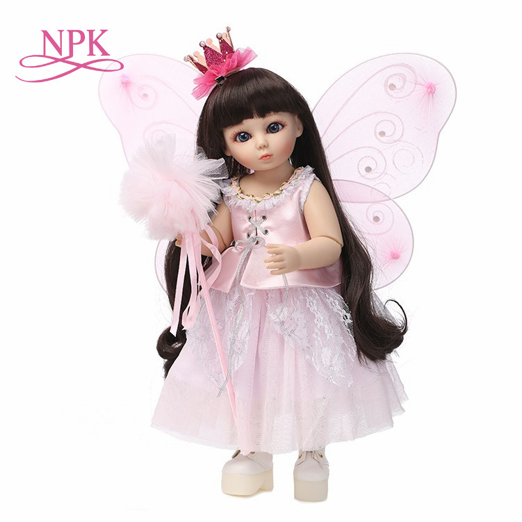 NPK bjd doll silicone reborn baby dolls 45cm mini princess doll SD jointed doll bebe toys