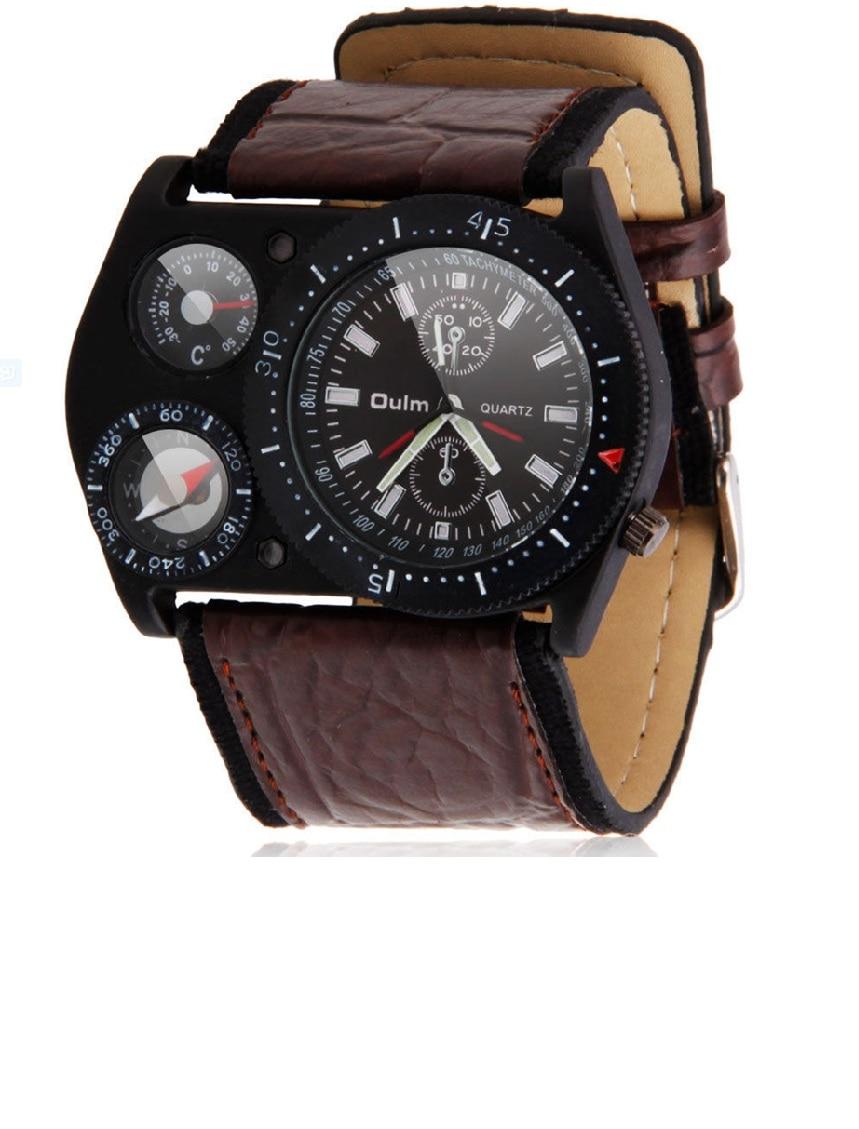 font b OULM b font Mens font b Luxury b font Sports Compass Thermometer Military