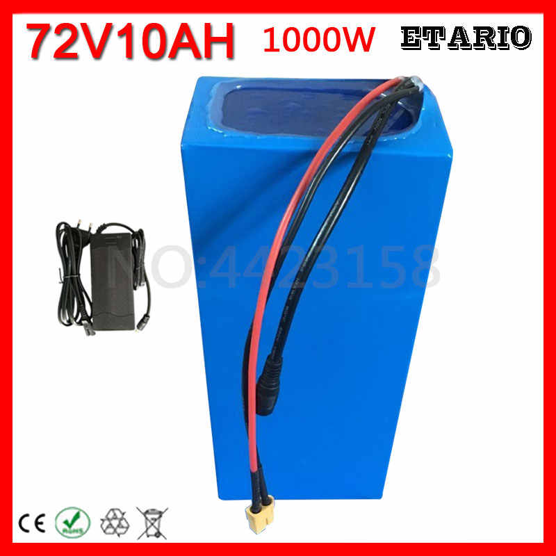 72V lithium Battery pack 72V 10ah electric Bike Battery 72V 10AH li-ion battery 72V electric scooter Battery with 84V 2A Charger