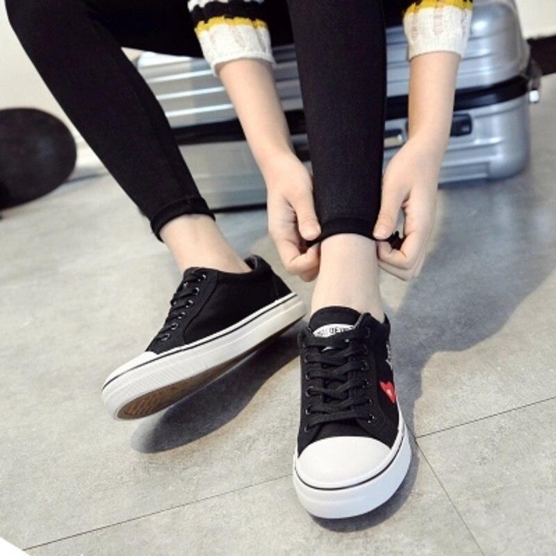 2 Para Casuali Lona Estudiantes Nuevo 1 Ayudar Zapatos Salvaje Planos Bajo Verano 2018 Y Primavera Marea Los A De TXq1AA