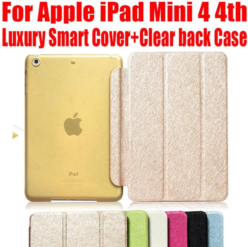 Έξυπνη θήκη για Apple iPad Mini 4 Fashion Πολυτελή δερμάτινη θήκη + Καθαρό ματ πίσω υπόθεση για iPad mini4 ΟΧΙ: IM402
