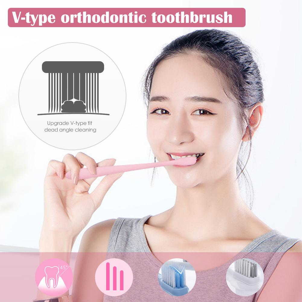 Special Braces New High Density Soft Bristle Antibacterial Toothbrush Adult Children Household Fashion Portable Travel image
