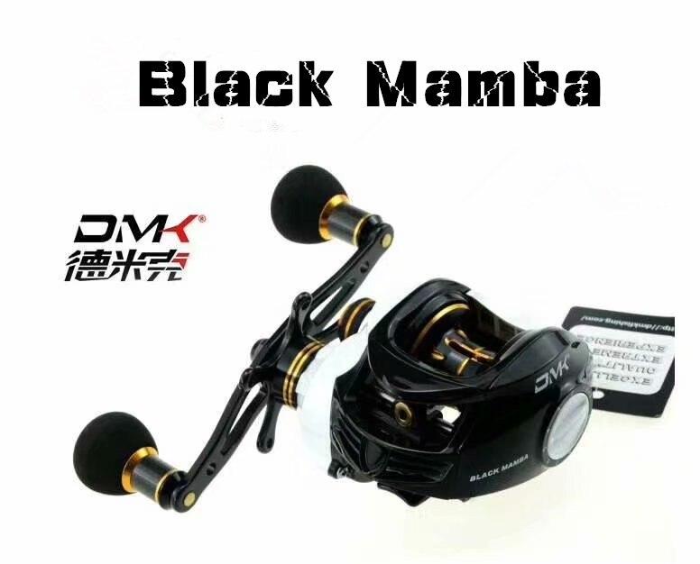 DMK BLACK MAMBA 240g 9+1BB 7.0:1 Baitcasting Fishing Reel 8kg Max Drag Moulinet Mouche Feeder PE6#-70m Coil Moulinet Peche Reels cuccio 240g