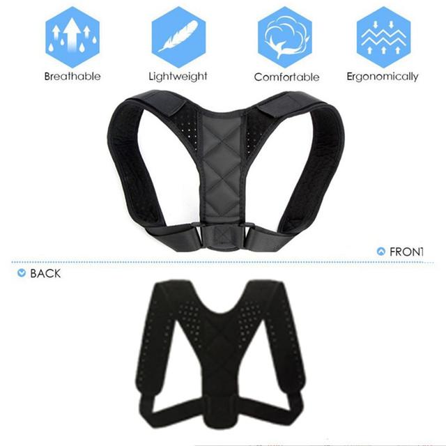 Medical Adjustable Clavicle Posture Corrector Men Woemen Upper Back Brace Shoulder Lumbar Support Belt Corset Posture Correction