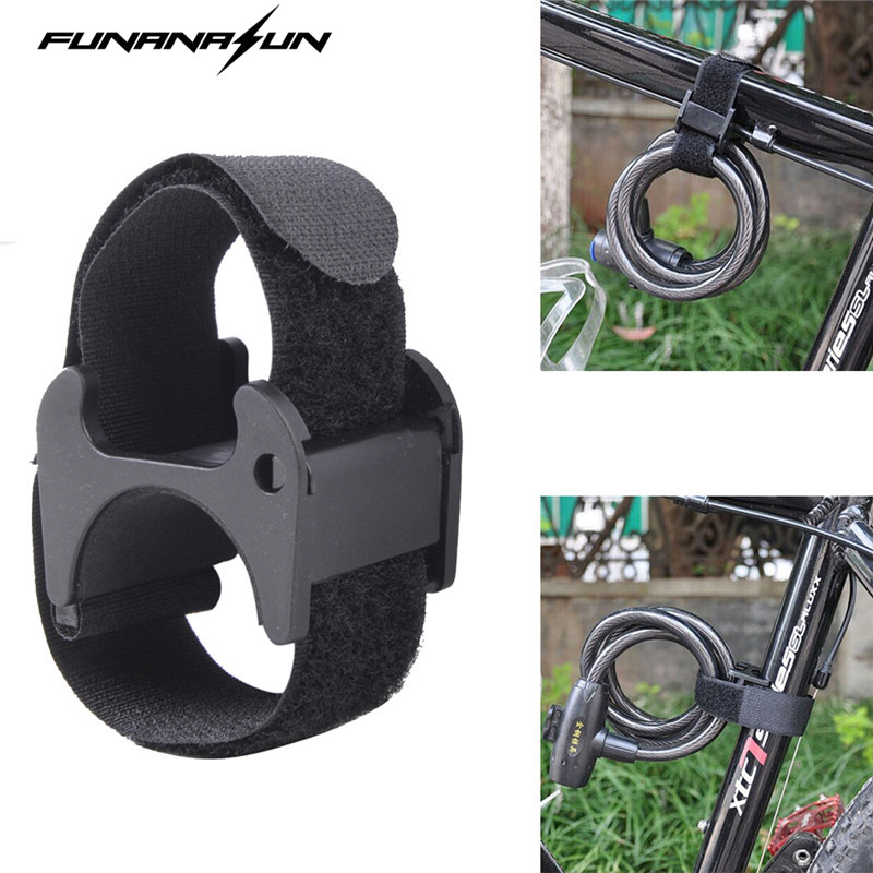 Bike taskulamppu hihna Mount Led Tourch Clip Clamp Magic Band Lockblock Mountain polkupyörän kypärä LED haltija Universal
