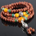 Ubeauty 6mm 108 natural glidstone beads bracelet Tibetan Buddhist prayer mala  bracelet women stone necklace Jewelry