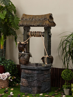 Large Ancient Well Rockery Garden Water Ornaments Water Fountain Indoor Fish Pond Home Decoration Bonsai Humidifier
