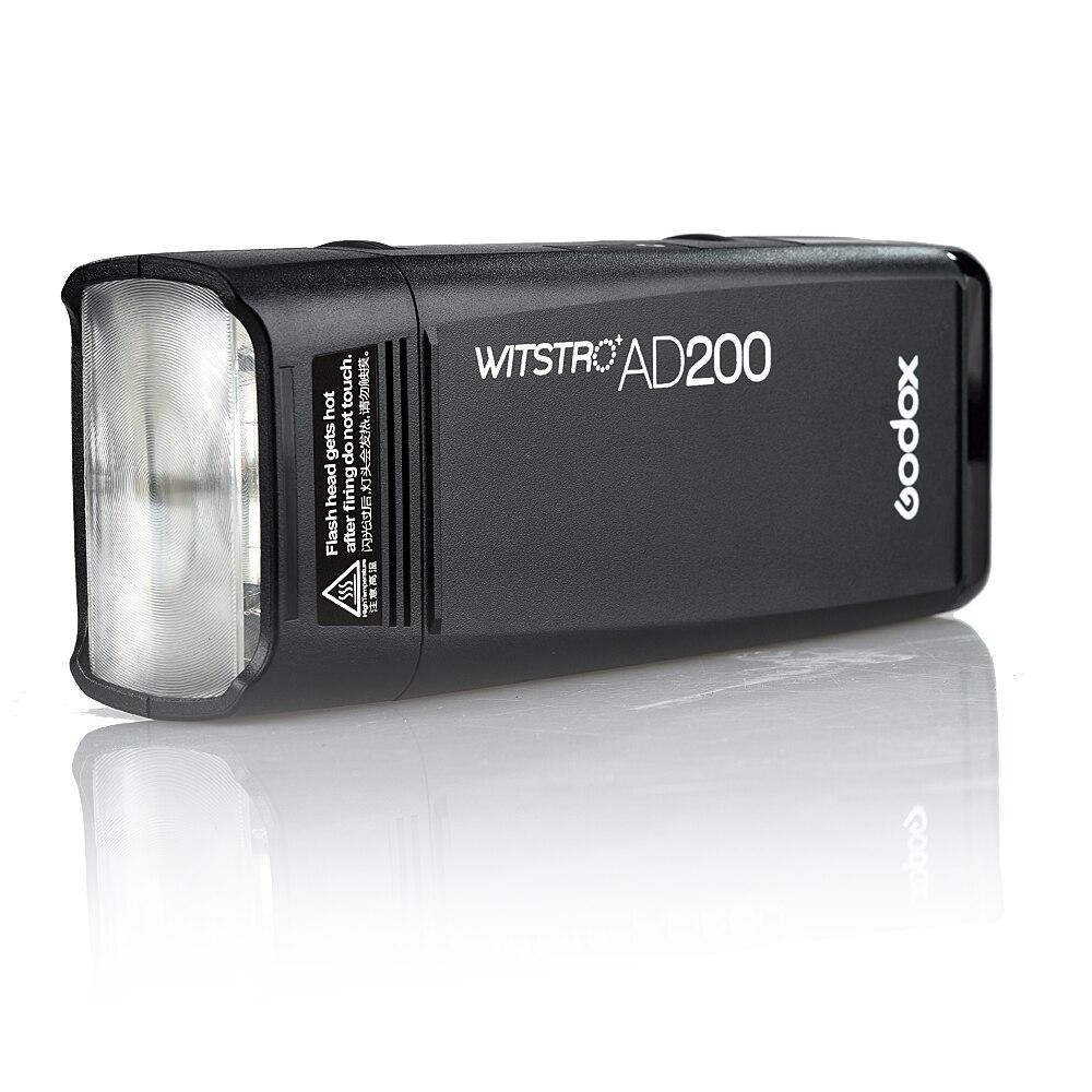 Godox AD200 Pocket Flash speedlite ad alta velocità fotografiche Per Canon Nikon Sony 200 w TTL Pacco Batteria Al Litio