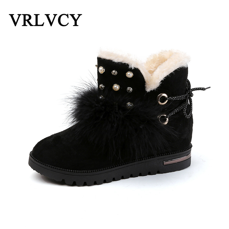 Winter plus velvet snow boots female short tube fur boots thickened students flat non-slip warm cotton shoes 2017 thickened graffiti zippers women short snow boots female cotton winter shoes fashion design warm flock page 2