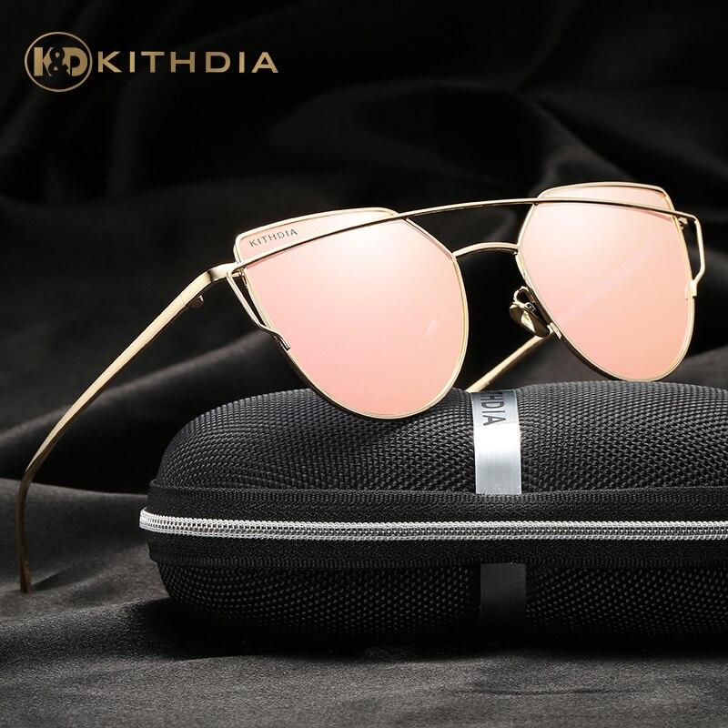 KITHDIA Polarisierte Sonnenbrille Frauen Marke Designer UV400 Frauen Retro Sonnenbrille aE2PStHD