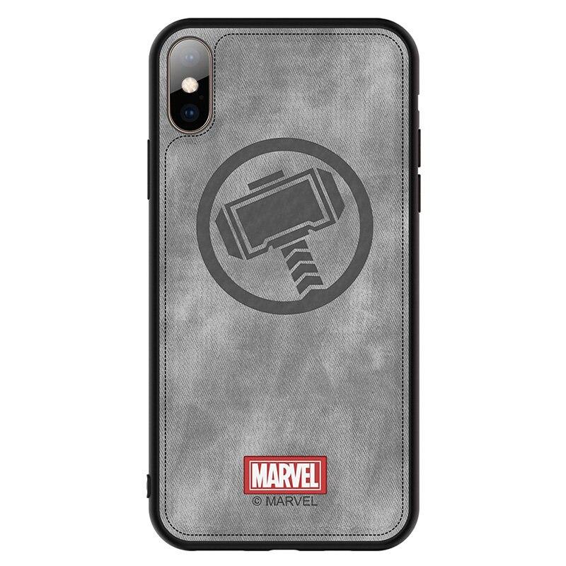 Caixa do telefone Para Apple iphone 7 8 Plus X XR XS 11 Pro MAX Original Marvel Spiderman Capitão América Tecido À Prova de Choque tampa traseira