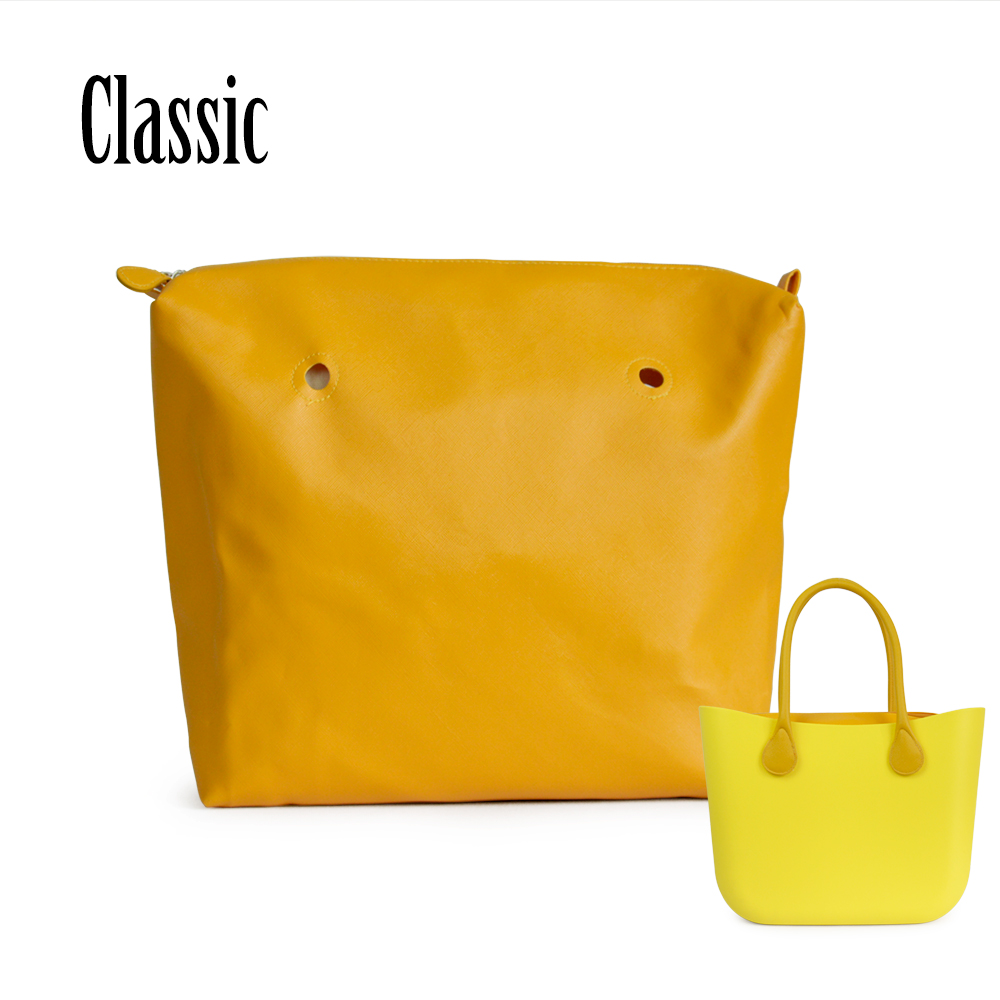 New waterproof PU Inner lining Zipper Pocket For Classic Big Obag Leather lining
