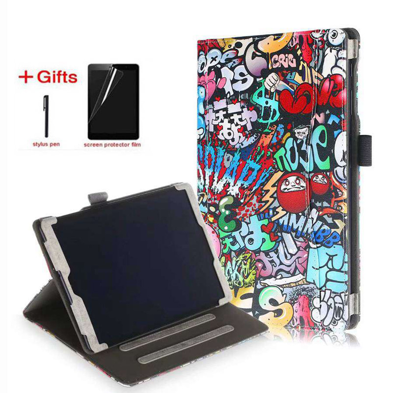 PU Leather Case for Samsung Galaxy Tab A 2019 SM-T515 T510 Multifunction Funda cover for Samsung Tab A 10.1 2019 case+film+pen image