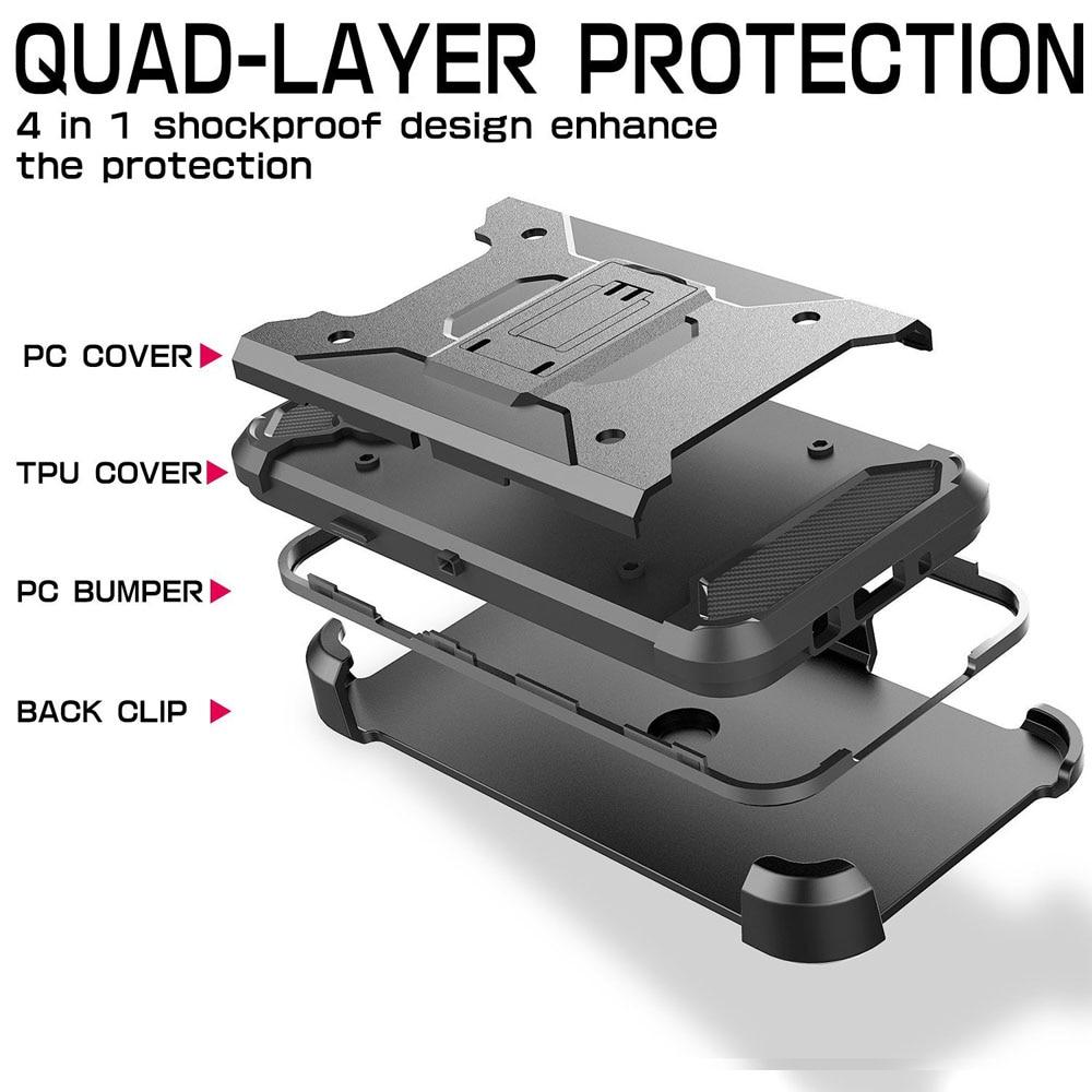 Armor Case Kickstand Belt Clip Holster Cover För Samsung Galaxy J1 - Reservdelar och tillbehör för mobiltelefoner - Foto 6