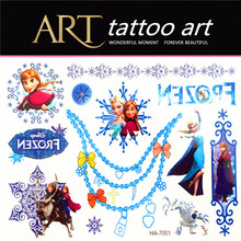 Design Elsa Anna Temporary Tattoos Waterproof Stickers Tattoo Princess Prince Children