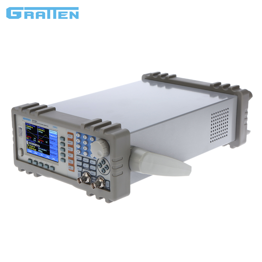 ATF20B+ Double Channel DDS Function Signal Generator Arbitrary Waveform Frequency Generator Meter 20MHz 100MSa/s купить
